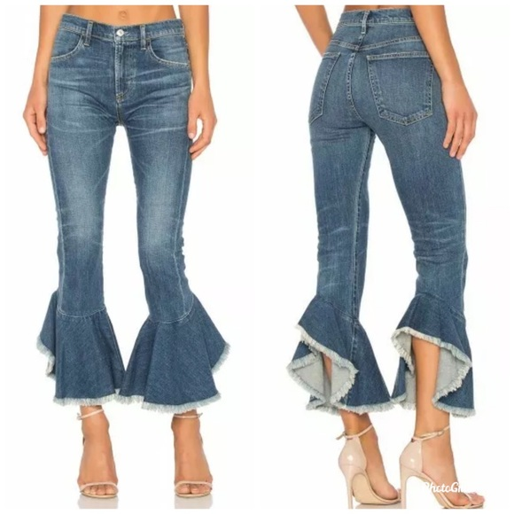 Citizens Of Humanity Denim - Citizens Of Humanity Drew Flounce High Rise Jeans